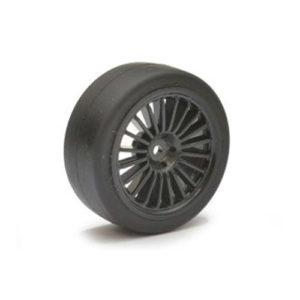 ABSIMA – 1/10 Wheel Set Onroad 20 Spoke Slick (Black) 4 – MEDIUM COMPOUND