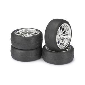 ABSIMA – 1/10 Wheel Set Onroad Lp Comb Slick Chrome 1:10 – 4 per set – MEDIUM COMPOUND