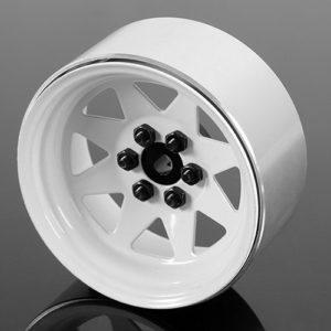 2.2 6 Lug Wagon 2.2 Steel Stamped Beadlock Wheels (White)