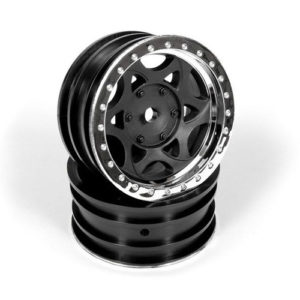 Axial – 1.9 Walker Evans Street Wheel – Chrome/Black (2pcs)