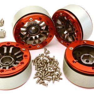 1.9 Dual 6 Spoke Wheels w/12mm Hex Adapters for Traxxas TRX-4