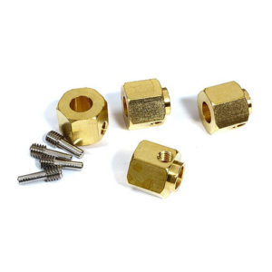 12mm Hex Wheel (4) Hub Brass 12mm Thick for Traxxas TRX-4 Scale & Trail Crawler