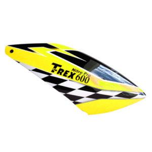 T-Rex 600 Nitro – Fusuno Neon Yellow Checkers Canopy