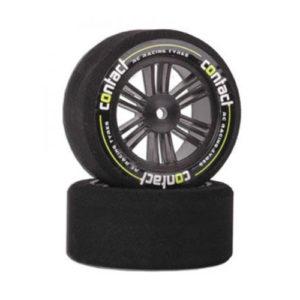CONTACT – 1/10 Contact RC Tyres Foam – 26mm 37Sh JAP Carbon – 2 per set