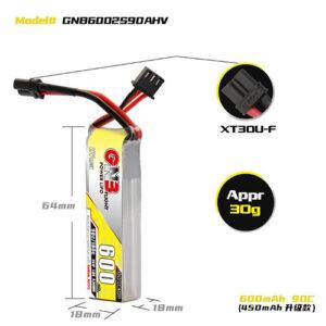 GNB 2S 600MAH 90C/180C Battery – Each